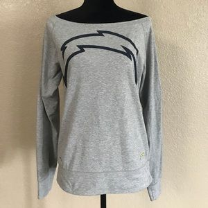 NFL dri fit Chargers off the shoulder sweater smal